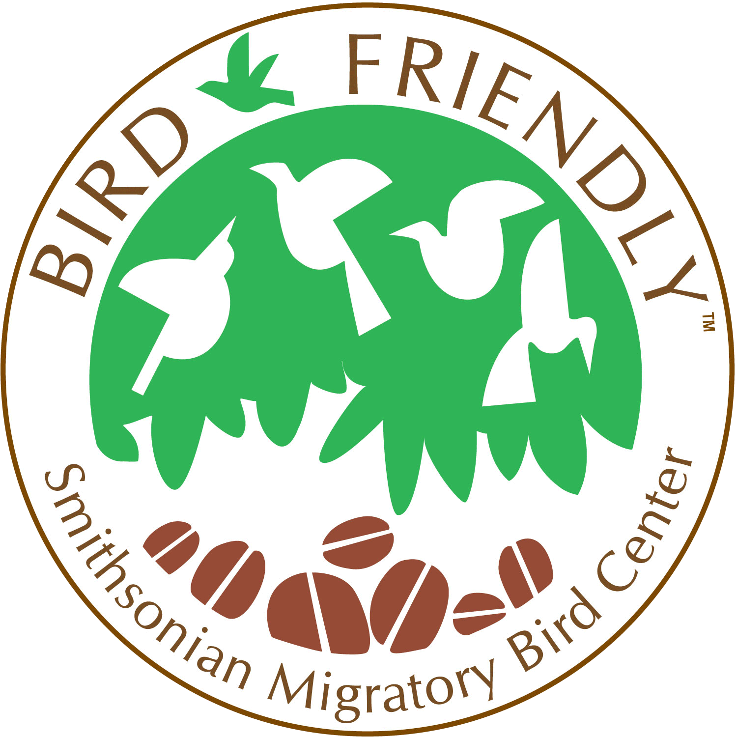 Smithsonian-certified Bird Friendly Coffee carries this logo
