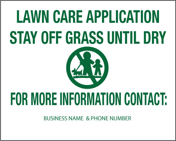 Lawn Treatment Sign