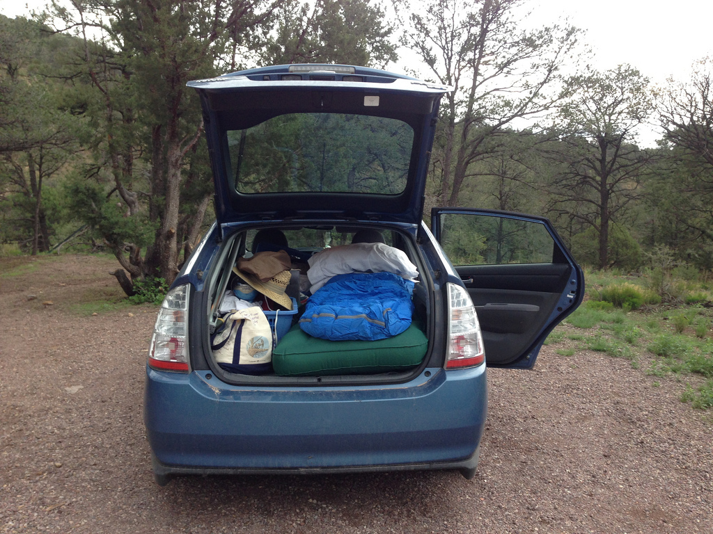 Camping in New Mexico in a Prius